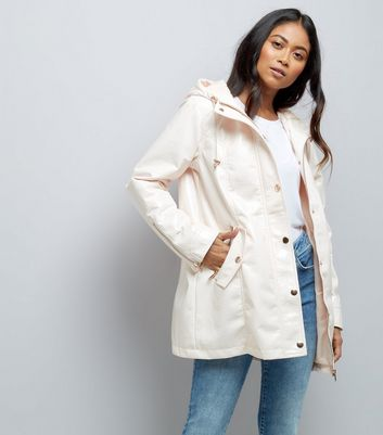Petite Cream Hooded Anorak New Look
