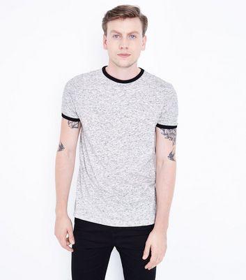 Grey Marl Ringer T-Shirt New Look