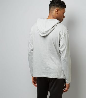 Lost Society Grey Long Sleeve Hoodie New Look