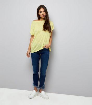 Yellow Cross Strap Back T-Shirt New Look