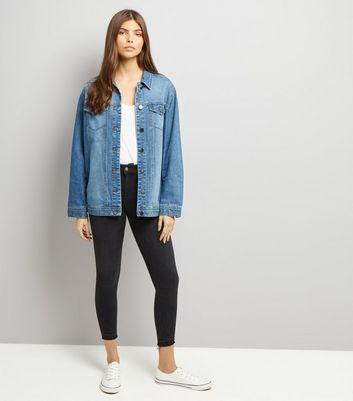 JDY Blue Oversize Denim Jacket New Look