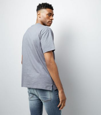 Pale Blue Pocket Front T-Shirt New Look