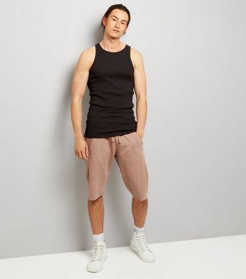Pink Acid Wash Drop Crotch Shorts New Look
