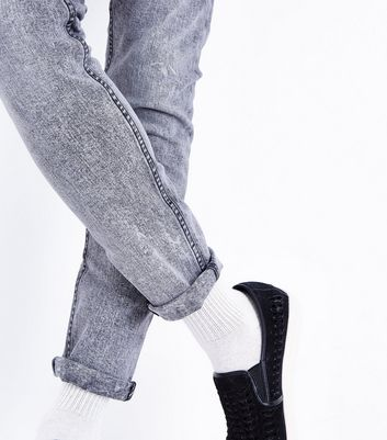 Black Acid Wash Skinny Jeans New Look