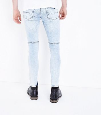 Pale Blue Acid Wash Super Skinny Jeans New Look