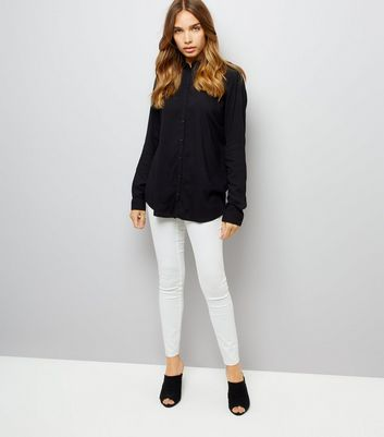 JDY Black Open Back Shirt New Look