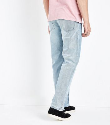 Pale Blue Straight Leg Jeans New Look