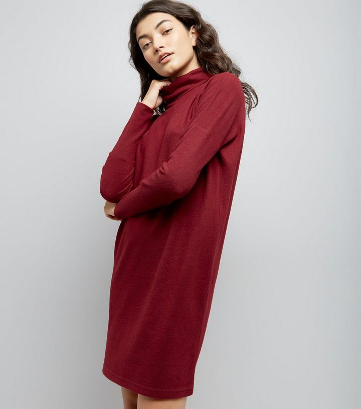 a790c729609 Noisy May - Robe pull rouge à manches bouffantes