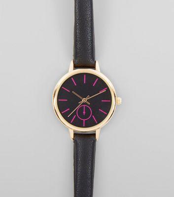 Black Neon Dial Watch New Look