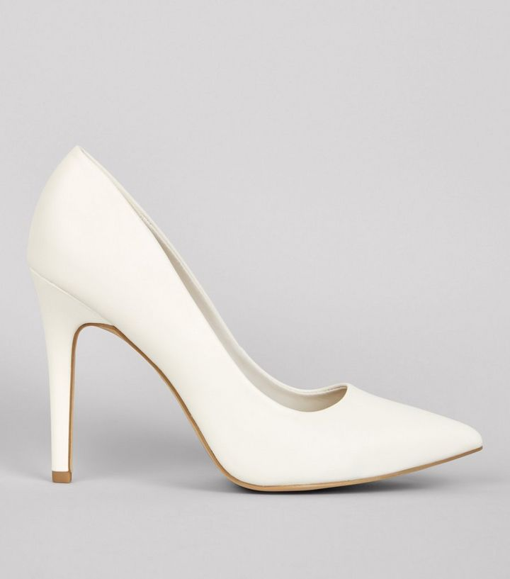 c6c62716eb3 Wide Fit White Pointed Court Shoes Add to Saved Items Remove from Saved  Items