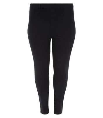 Curves Black 5 Pocket Jeggings New Look