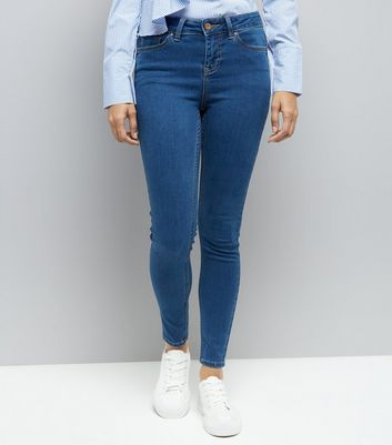 Petite Blue Super Soft Skinny Jeans New Look