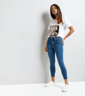 Petite Blue Supersoft Skinny Jeans New Look