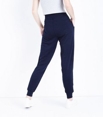 Navy Slim Leg Joggers New Look