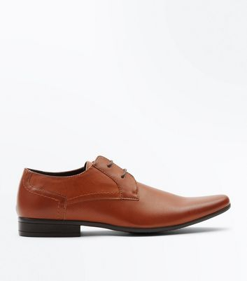 Tan Perforated Formal Shoes New Look
