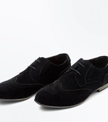 Black Suedette Brogues New Look