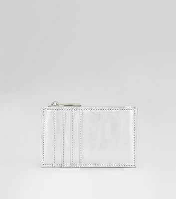 Silver Card Holder New Look