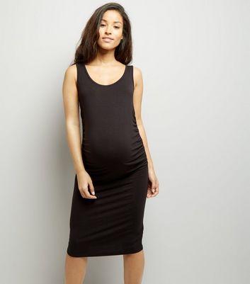 Maternity Black Jersey Midi Dress New Look