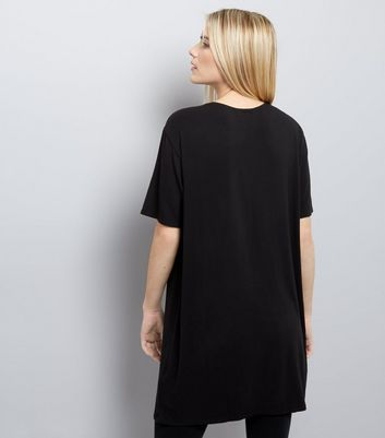 Black Brooklyn Heights Choker Neck Top New Look