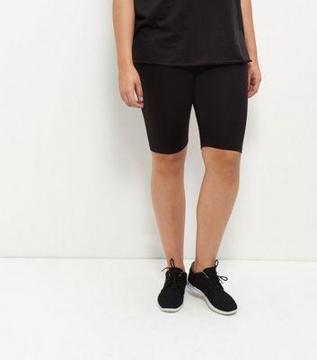 Curves Black Cycling Shorts New Look