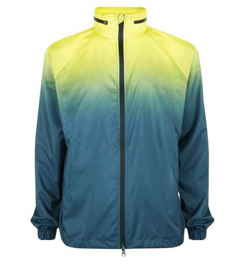 Yellow Ombre Sports Jacket New Look