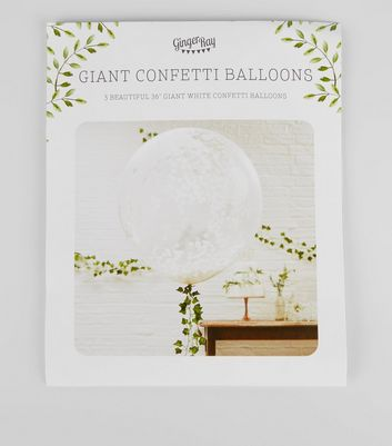 White Confetti Wedding Balloons New Look