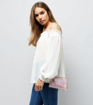 Pink Perspex 2 in 1 Clutch Bag New Look