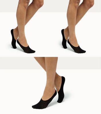 3 Pack Black Sports Socks New Look