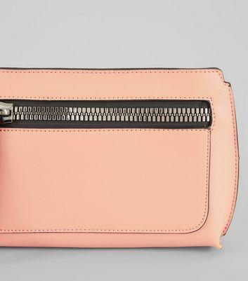 Peach Zip Front Cross Body Bag New Look