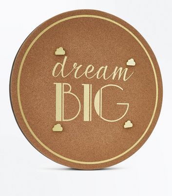 Brown Cork Metallic Dream Big Pin Board New Look