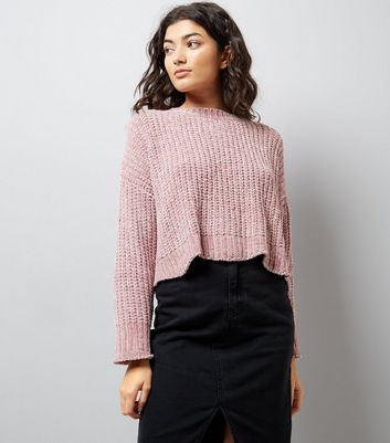 Blue Vanilla Pink Chenille Jumper New Look