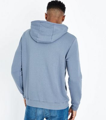 Pale Blue Pocket Front Hoodie New Look