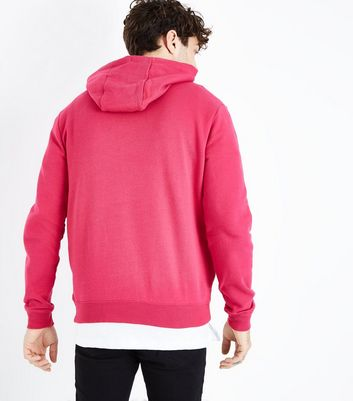 Pink Pocket Front Hoodie New Look
