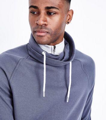 Dark Grey Funnel Neck Sweatshirt New Look