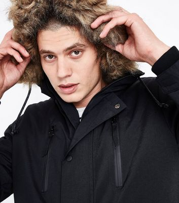 Black Parka Jacket New Look