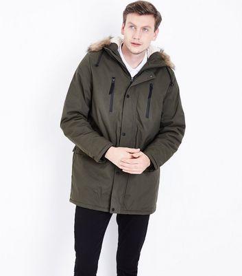 Khaki Parka Jacket New Look