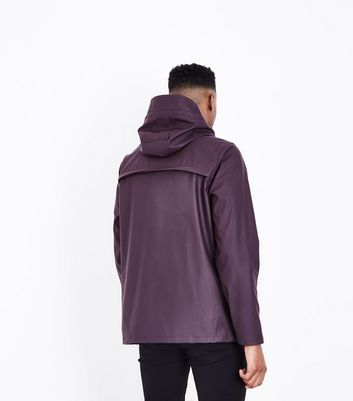 Burgundy Rain Coat New Look