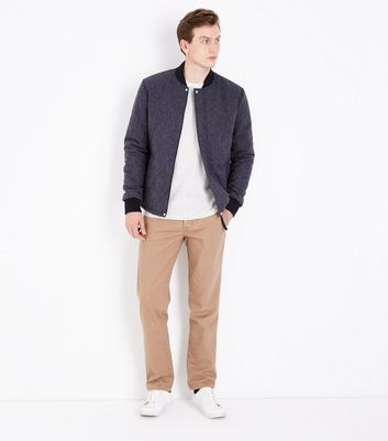 Blue Quilted Jacket New Look