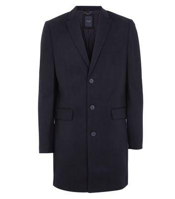 Black Smart Overcoat New Look