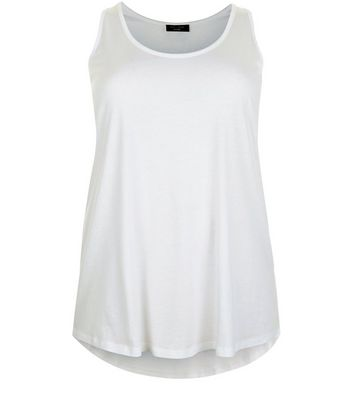 Curves White Scoop Neck Vest New Look