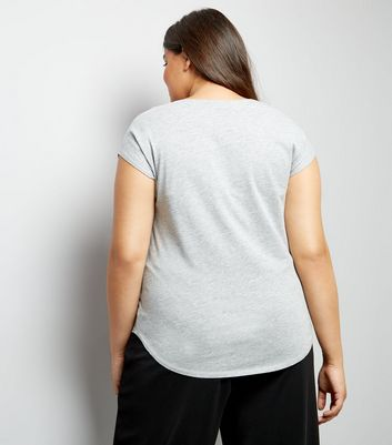 curves-light-grey-short-sleeve-t-shirt