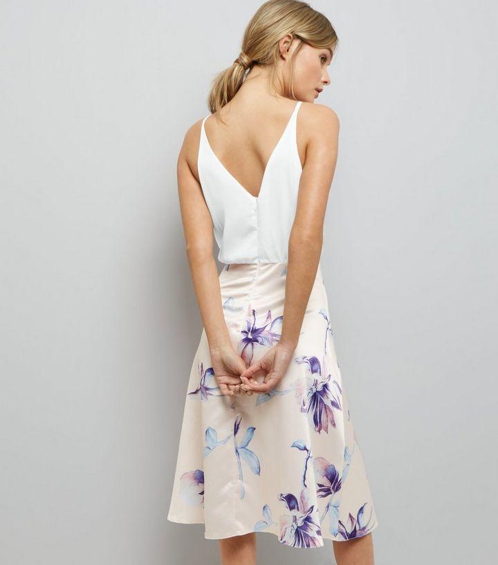 acd859687e ... AX Paris Pale Pink Floral Print Skater Dress. ×. ×. ×. Shop the look
