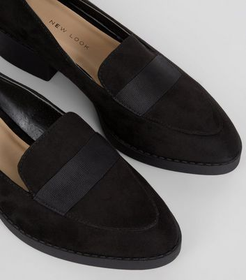 Teens Black Suedette School Loafers New Look