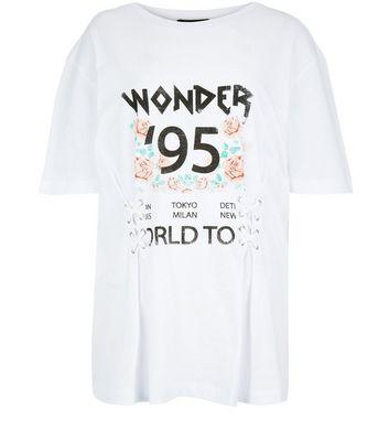 Teens White Corset Detail Boyfriend T-Shirt New Look