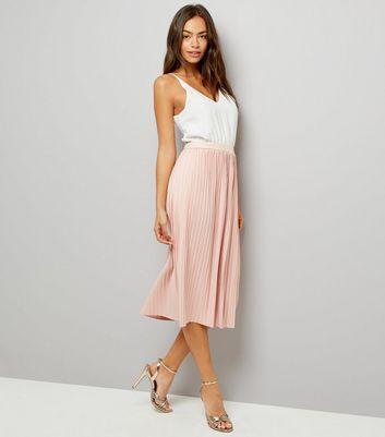 AX Paris Pink Pleated Skirt Dress New Look