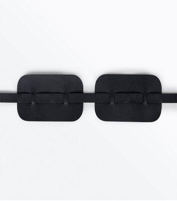 Black Side Panel Waist Belt New Look