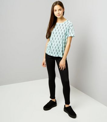 Teens Mint Green Pineapple Print T-Shirt New Look