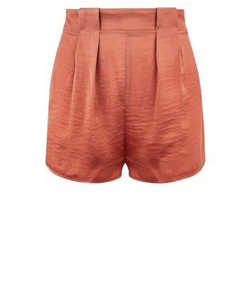 Pink Satin Pyjama Shorts New Look