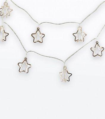 Rose Gold 3D Star Lights New Look