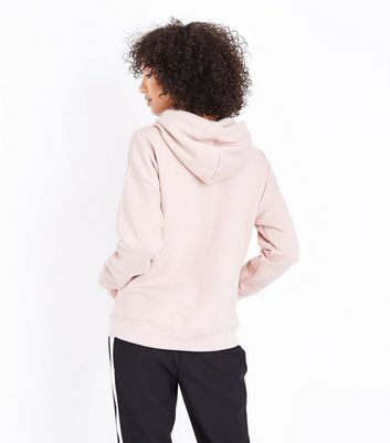 Shell Pink Oversized Hoodie New Look